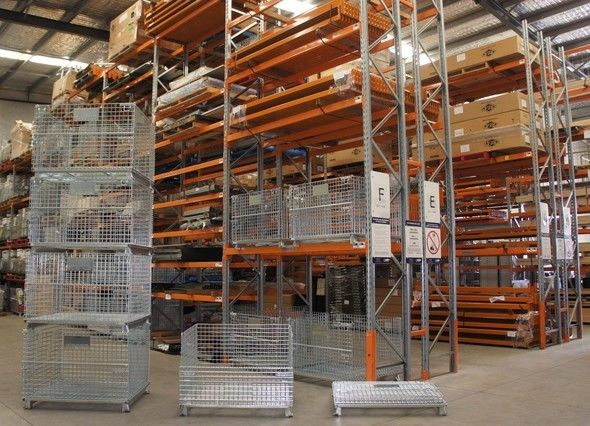 used mesh pallet cages