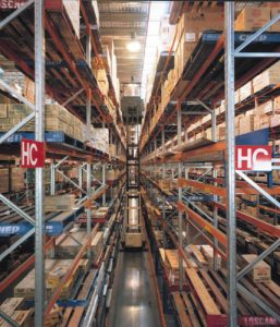 used narrow aisle pallet racking