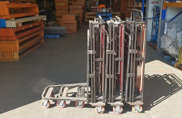 Fold down goods trolley - Group of 3 Folded resize1